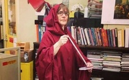 Every year my school's librarian dressed up as a book reaper
