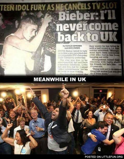 Bieber: I'll never come back to UK