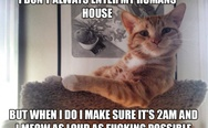 I don't always enter my human's house