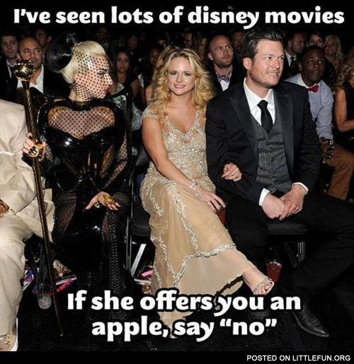 If she offers you an apple, say no