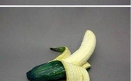 Science gone too far. Banana in cucumber.