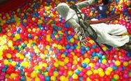 Assasin in a ball pit