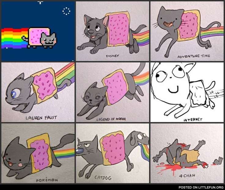 Nyan cat, different styles