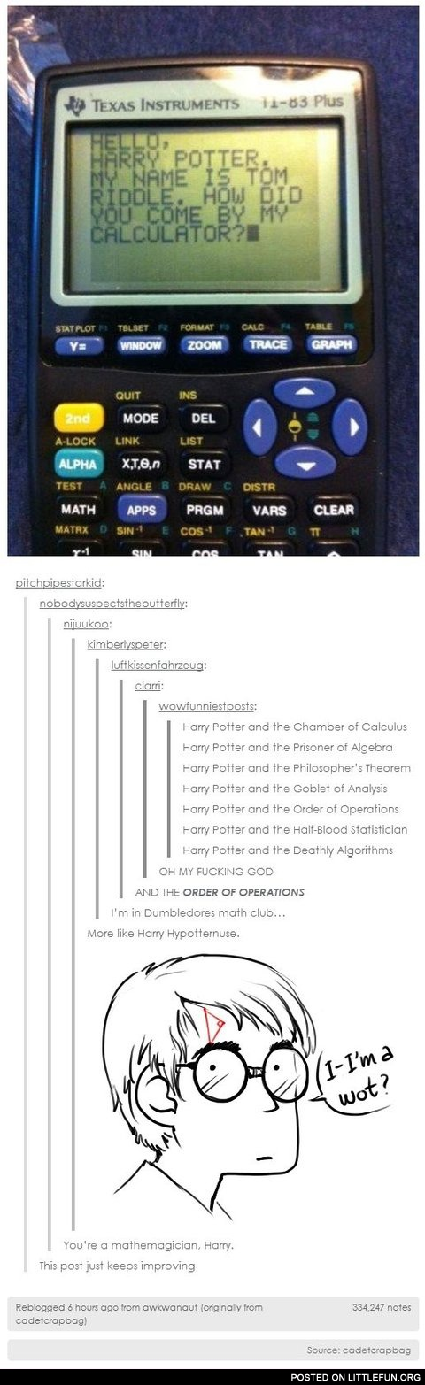 Harry Potter in the calculator