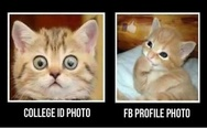 College ID photo vs. FB profile photo
