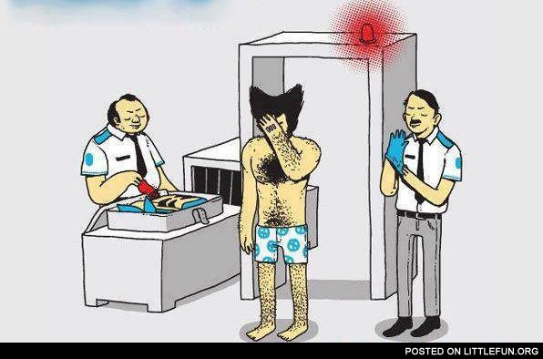Wolverine at the airport