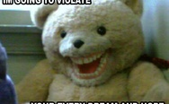 Scary teddy bear