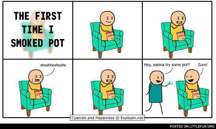 The first time I smoked pot