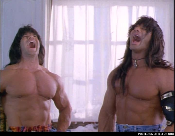 Barbarian Brothers (David and Peter Paul) fro Twin Sitters. Just loved that movie when I was a kid.