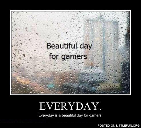 Beautiful day for gamers