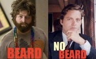 Zach Galifianakis. Beard vs. no beard.