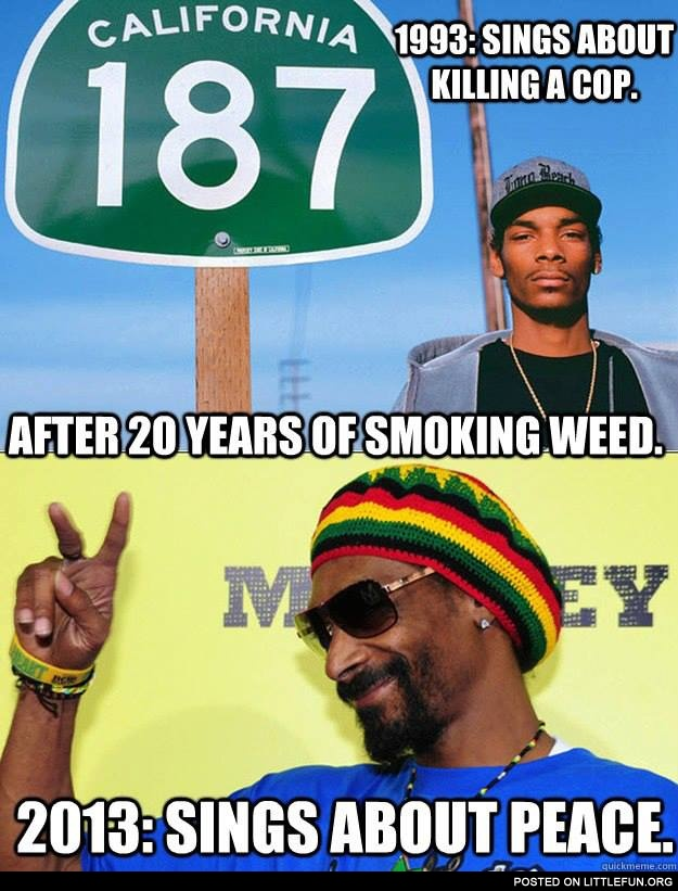 Snoop Dog after 20 years of smoking weed