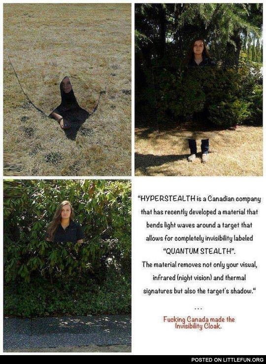 Canadian company made the invisibility cloak
