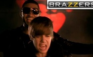 Justin Bieber and Usher, censored