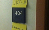 Error 404, room not found