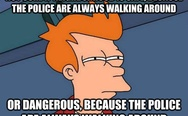 Not sure if neighborhood is safe, because the police are always walking around or dangerous
