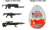 Kinder surprise and guns in USA