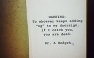 Dr. A Hedgehog