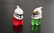Gummy bears + Lego Clone Trooper Helmets