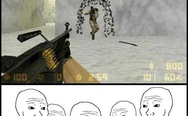 Machine gun in Counter Strike