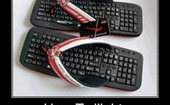 Keyboard flip flops. How Twilight was written.
