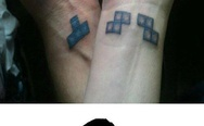 Tetris tattoo. If you know what I mean.