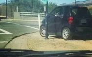 Today I witnessed a smart car attempt to cross the road via crosswalk