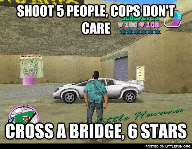 Shoot 5 people, cops don't care