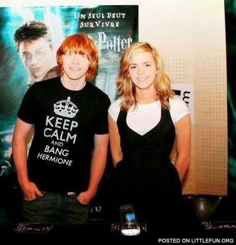 Keep calm and bang Hermione shirt