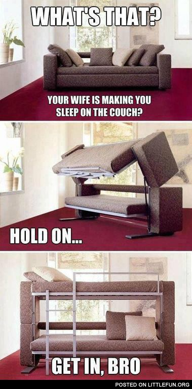 Double-deck couch