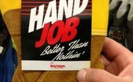 Hand job glove, better than nothing