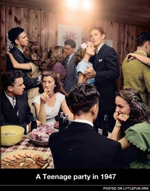 A teenage party in 1947