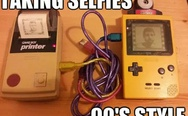 Taking selfies 90's style