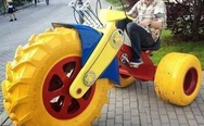 Big wheel bike for adults