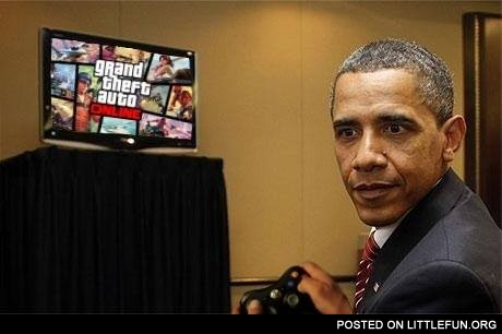 Barack Obama plays GTA