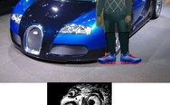 Bugatti Veyron and master of Photoshop