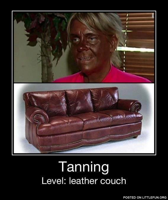 Tanning level: leather couch