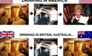 Drinking in America, in Britain, and in Australia