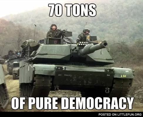 70 tons of pure democracy