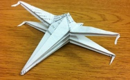 X-wing fighter origami