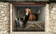 Horse garage door decal