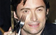 Hugh Jackman, wolverine with forks