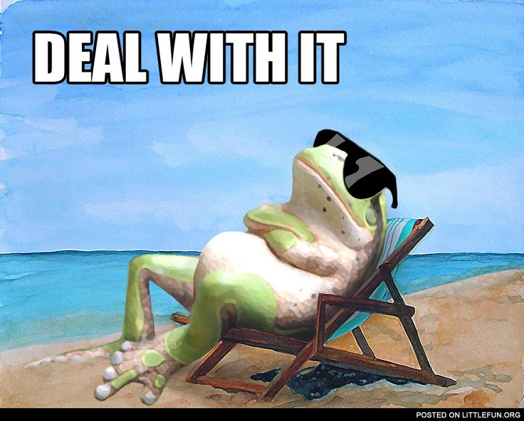 Frog on the beach. Deal with it.