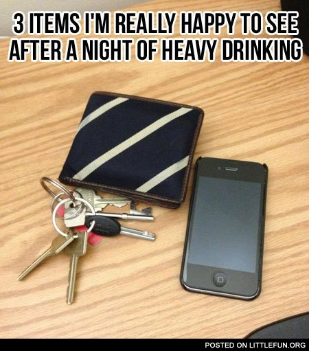 3 items I'm really happy to see after a night of heavy drinking