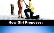 Guys' and girls' marriage proposal
