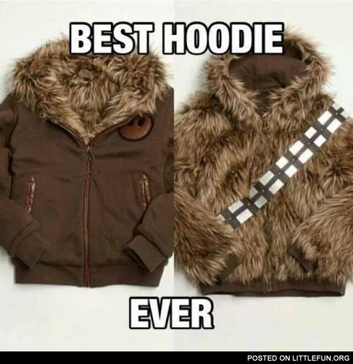 Chewbacca jacket coat. Best hoodie ever.