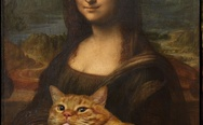 Mona Lisa with cat