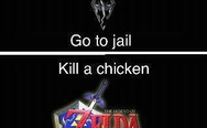 Skyrim, Zelda and chicken