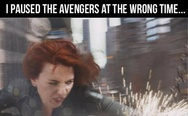 I paused The Avengers at the wrong time