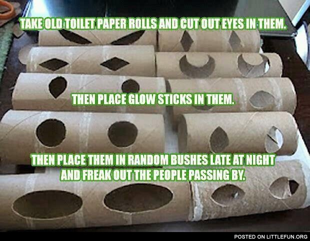 Toilet paper roll eyes